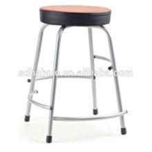 Taburete de silla de escuela colorido de alta calidad / silla de estudio de asiento redondo Steel Stool