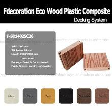 Revestimento exterior do Decking WPC composto plástico de madeira de Eco
