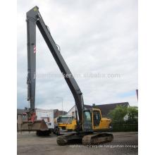 langer Ausleger und Arm für Bagger 20-50 Ton