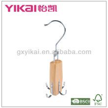 New style wooden belt rack and tie hanger