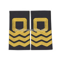 Black Fabric Top Quality Army Embroidered Epaulette