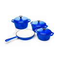 Cast iron casserole and skillet Cast iron cookware set enameled