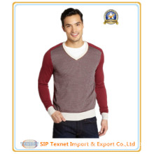 Wool-Silk V-Neck Pullover Sweater