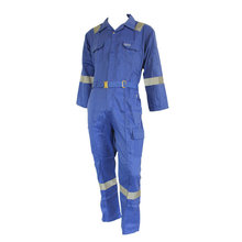 Cheap for Blue Coverall Workwear Fire resistant one piece coverall with reflective tape export to Vanuatu Suppliers
