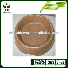 Tazón de bambú natural del perro del 100%