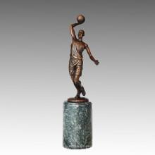 Estatua Deportiva Jugador De Baloncesto Escultura De Bronce, Milo TPE-731