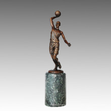 Statue sportive Joueur de basketball Bronze Sculpture, Milo TPE-731