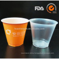 6oz clear double layer disposable plastic cup