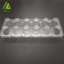12 egg transparent clamshell plastic carton trays