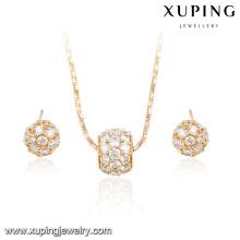 63948 fashion wedding jewelry sets dubai bridal multicolor delicate diamond 18k gold plated jewelry sets