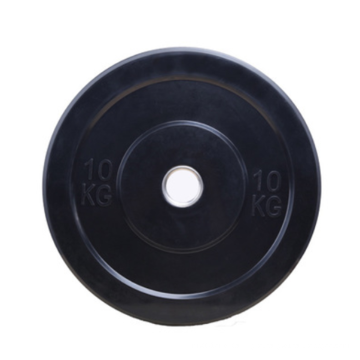 Weight Lifting Black PU Plate Barbell Weight Plate