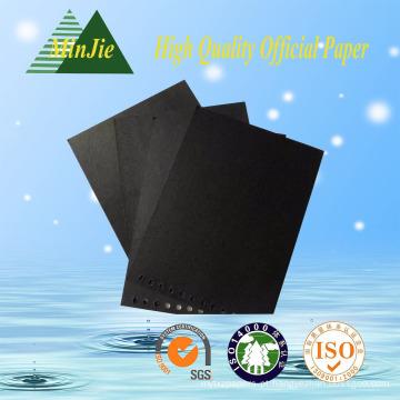 Especial preto pre-impresso cartão para a etiqueta do pano e moda