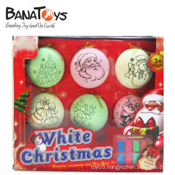 Colorful decorative plastic christmas ball ornament