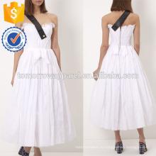 Новая мода Белый без бретелек полный юбка платье с контрастным ремешком Производство Оптовая продажа женской одежды (TA5217D)