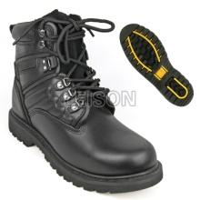 Tactical Boots of Cowhide Leather Upper with Superior Quality Natural Rubber Sole