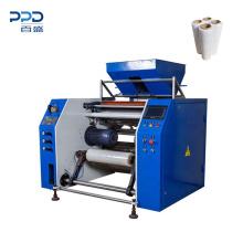 Factory price auto cutting rewinder machine pre-stretch film rewnding machine