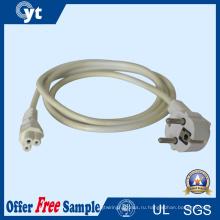 3-контактный разъем питания переменного тока кабель с FCC и RoHS ул