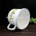 enamel milk boiling pot with PE lid&C handle