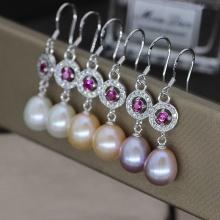 Boucles d'oreilles perles d'eau douce de mode en gros