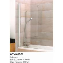Top Duschtür auf Badewanne Wtm-03D71