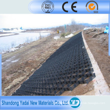 Geocélula de HDPE usada para construção de estradas