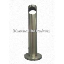 Support de tige de rideau en métal simple brossé au nickel pour décoration de vitre