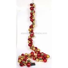 Ornamento plástico bonito da bola do Natal Garland