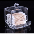 Clear Acrylic Cotton Swab Holder Makeup Accessory
