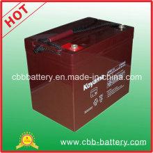 Batterie de secours 12V 85ah de camping-car de l'AGM d'acide de plomb de système solaire