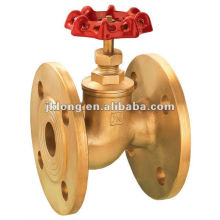 00314 Brass flange stop valve with cast iron wheel