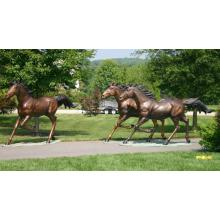 Garden Brass Horse Animal Statue