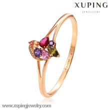 xuping las mejores señoras del diseñador de lujo con brazaletes plateados de oro