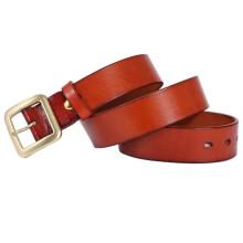 Quadratische Wölbung von 38mm Breite heißer Verkauf Mannes echtes Leder Gürtel