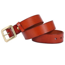 square buckle of 38mm width hot sale man's genuine leather belt