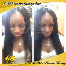 Qingdao TBW Factory Best Selling Silky Straight Peruvian Hair Lace Wig