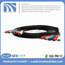12FT COMPONENT VIDEO CABO COM AUDIO 5 RCA A 5 RCA CABLE HDTV DVD VCR 12 FT