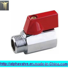 Female X Male Polished Chrome Brass Mini Ball Valve