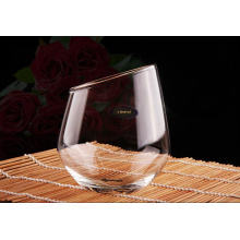 Creative Hand Made Glass Tea Cup Stemless Wine Glass for Wholesaler
