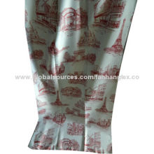 Nice half blackout fabric with printing, weight of 130gsm, 280cm width, 100% poly composition