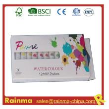 Pintura acrílica não tóxica 12 cores para crianças