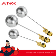 TMOK china supplier forged 1/2 inch male thread brass float valve with high quality and nice price