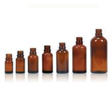 Bernstein-Glasflasche für ätherische Öle, Hals Finish DIN18