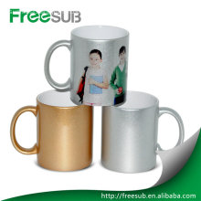 Customed silver mug dye sublimation mugs wholesale