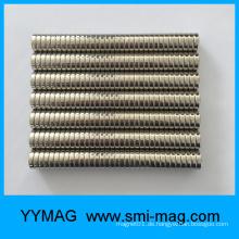 Kleine Scheibe Nickel D12.7mm NdFeB Magnetknopf