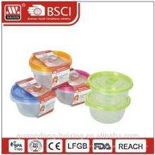 Recipiente de alimento colorido microondas (0,8 L 2PCS)
