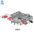 Máquina para fabricar telas no tejidas SMMS para toallas sanitarias