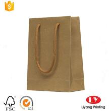 Saco de compras de papel kraft marrom rígido
