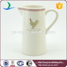 good price with best sale cute cock decal ceramic white jug