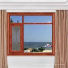 vidro duplo com porta da janela da grade