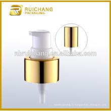 Pompe à lotion en aluminium / pompe à crème en aluminium de 24 mm avec surcapsule en aluminium